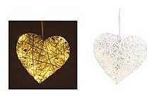 Світлодіодний світильник нічник Серце 17см 10020842