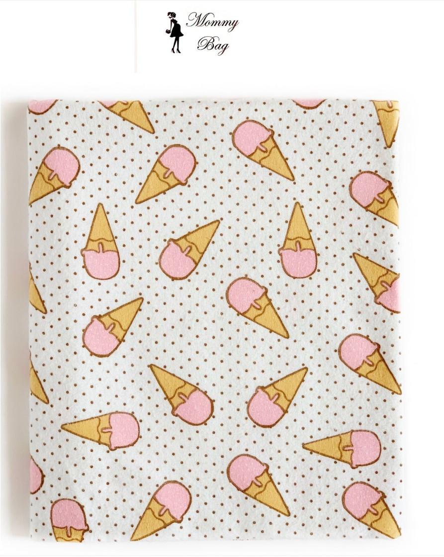 Фланелевая пеленка байковая с начесом Мороженное розовое #2