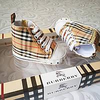 Коттоновые кроссовки пинетки Burberry