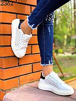 Женские модные кроссовки бело-черные 35,36,37,39 размер