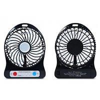 Мини вентилятор mini fan с аккумулятором (Black)