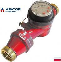 Водосчетчики Apator Powogaz JS-130-10 ГВ Ду-40 на горячую воду одноструйные крыльчатые сухоходы для домов