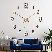 Настенные 3д часы Timelike Медь, Бронза 130см T4228 Copper