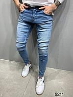 Мужские джинсы 2Y Premium 5211 blue, фото 1