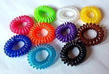 Гумки пружинки для волосся 10 шт маленькі 4 см, кольорові