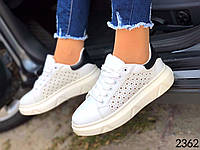 Женские модные белые кроссовки 35,36,37,39 размер