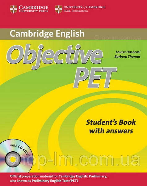 Objective PET Second Edition Student's Book with answers and CD-ROM / Учебник с ответами