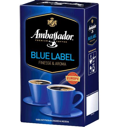 Кава мелена Ambassador Blue Label, вак.уп. 450г