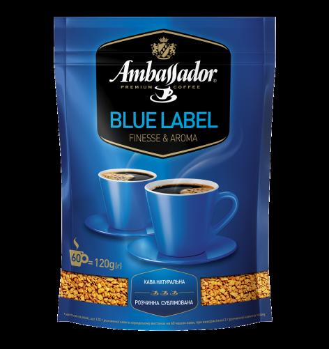 Кофе растворимый Ambassador Blue Label, пакет 120г