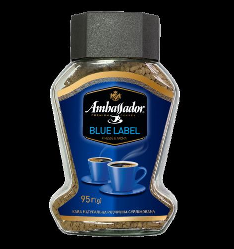 Кофе растворимый Ambassador Blue Label, стеклобанка 95г