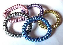 Гумки пружинки для волосся 5 шт великі 6 см, кольорові