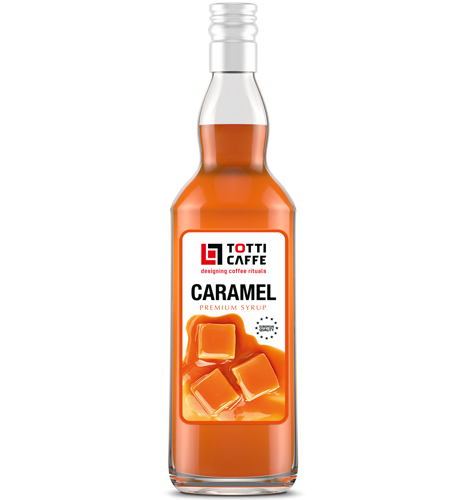 Наповнювач TOTTI Caffe на основі цукрового сиропу Карамель, 700 мл