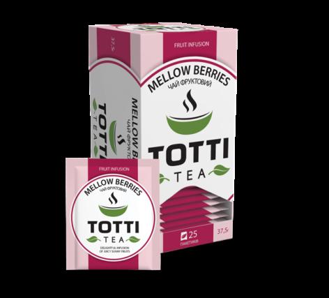 Чай фруктовий TOTTI Tea «Соковиті ягоди», пакетований, 25 шт по 1,5г.