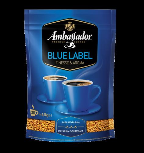 Кофе растворимый Ambassador Blue Label, пакет 60г