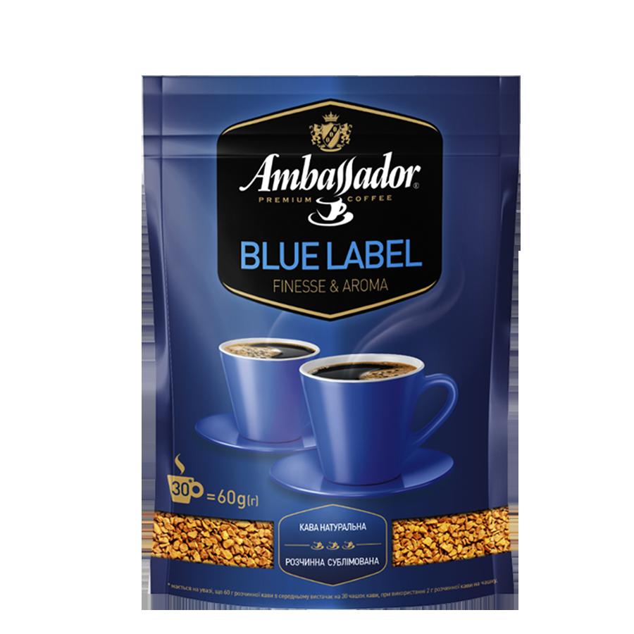 Кофе растворимый Ambassador Blue Label, пакет 400