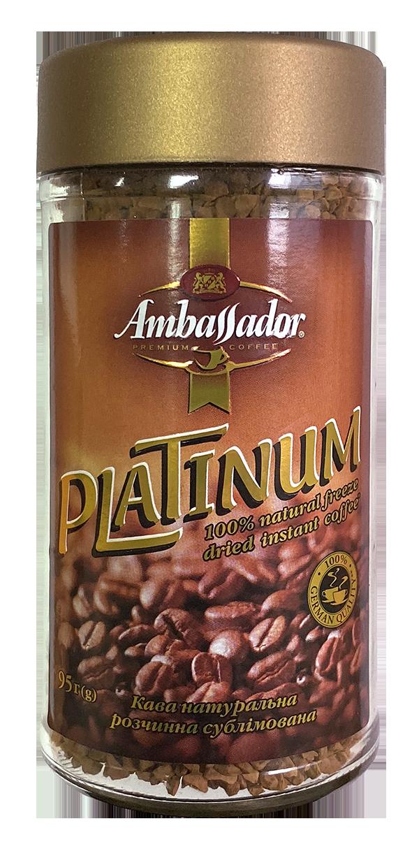 Кава розчинна Ambassador Platinum, склобанка 95г