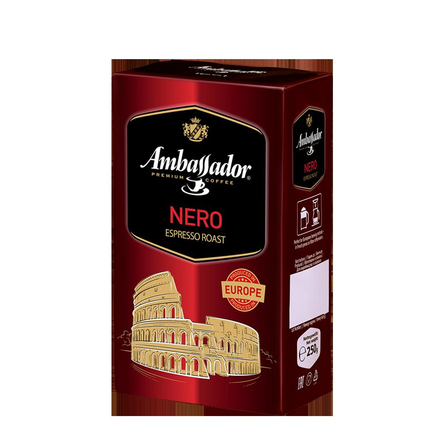 Кофе молотый Ambassador Nero, вак.уп. 225г