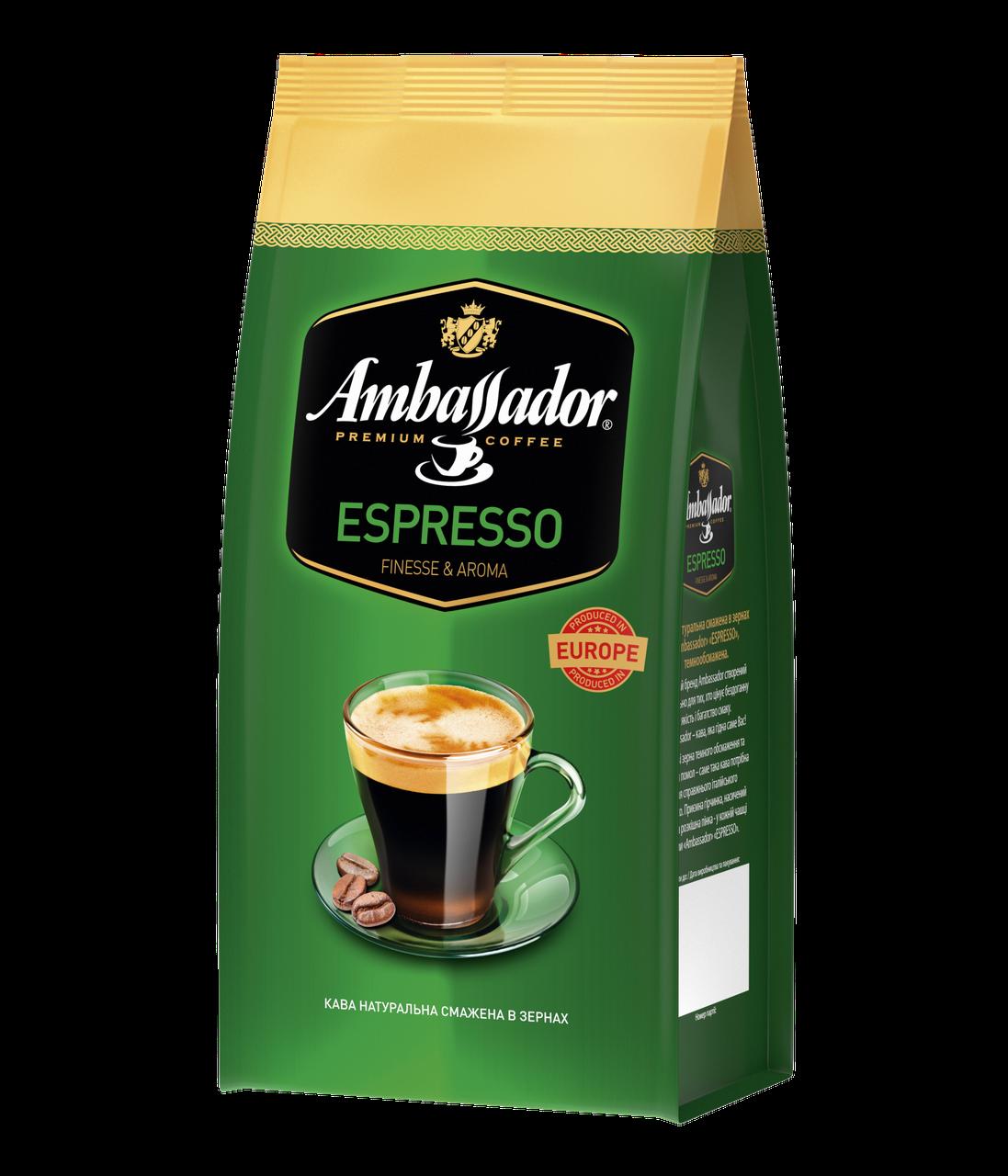 Кава в зернах Ambassador Espresso, пакет 1000г