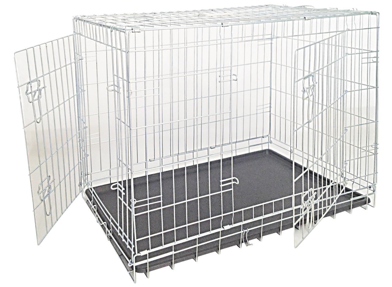 Клетка Croci для собак, цинк, 2 двери, 116х77х86см