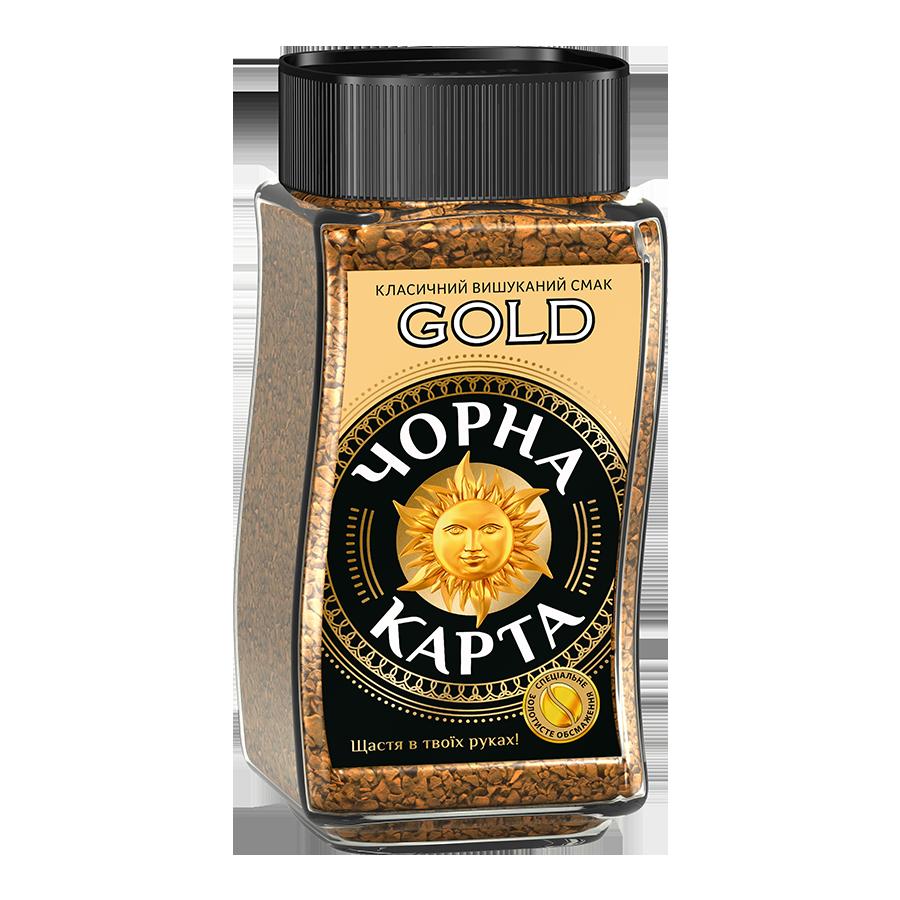 Кава розчинна Чорна карта Gold, склобанка 47,5 г