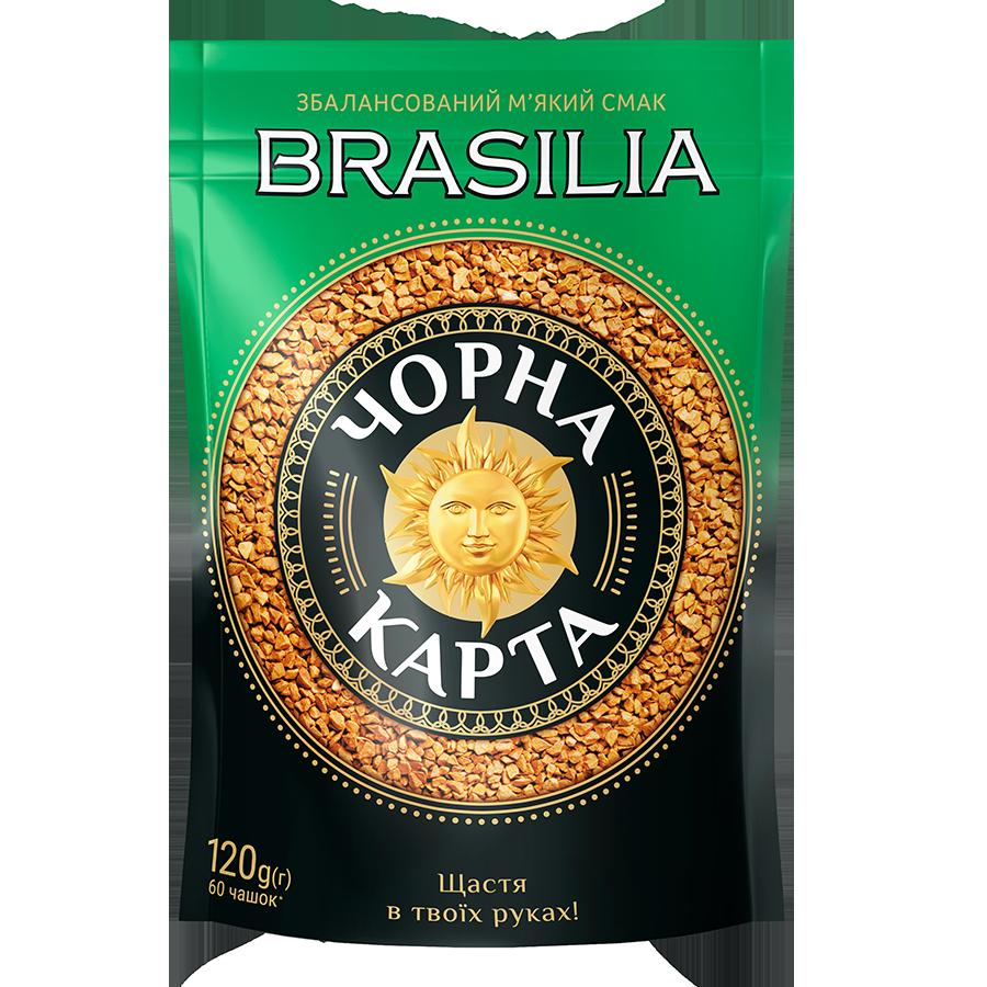 Кава розчинна Чорна Карта Brasilia, пакет 120г