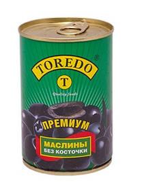 """Маслини чорні без кісточок """"Toredo"""" 280 г"""
