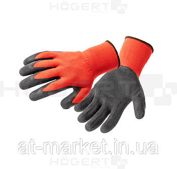 Перчатки рабочие с вспененным латексом, размер 9 HT5K203-9