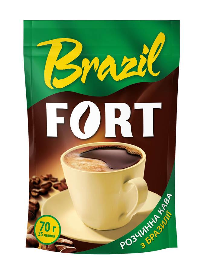 Кава розчинна Fort Brazil, пакет 70г