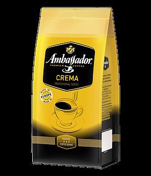 Кава в зернах Ambassador Crema, пакет 1000г