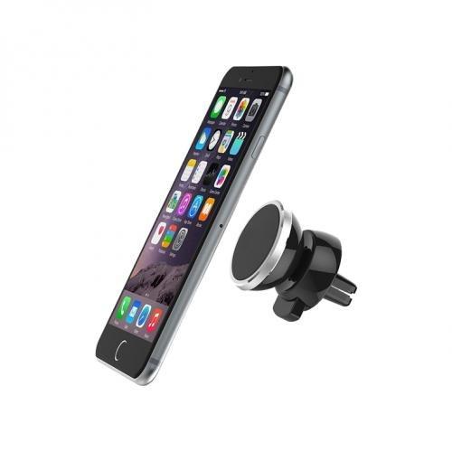 Магнитный держатель для телефона Mount Holder Silver (в воздуховод) + подарок Зарядка для телефона