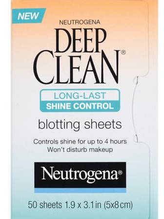 Косметическая салфетка для лица Neutrogena Deep Clean Shine Control Blotting Sheets, 50 штук