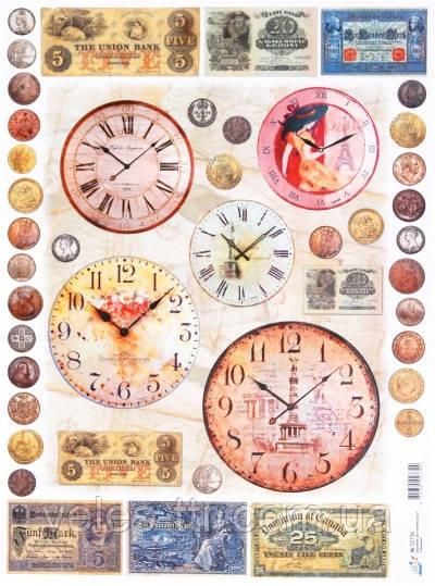 Декупажная карта Время-деньги Art