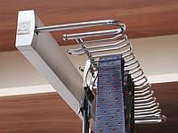 Вешалка для галстуков и ремней с доводчиком 53-44152 150*500*55 хром (16503)