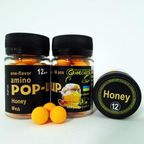 Бойлы amino POP-UP Grandcarp HONEY (МЕД) Ø12 мм 30 шт. (PUP133)