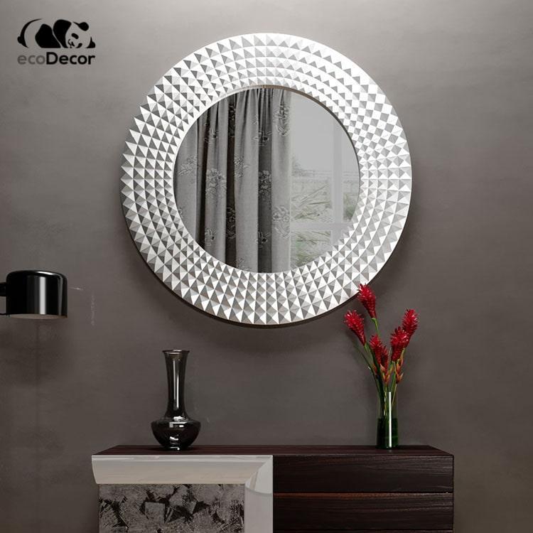 Зеркало в ванную серебряное Madrid