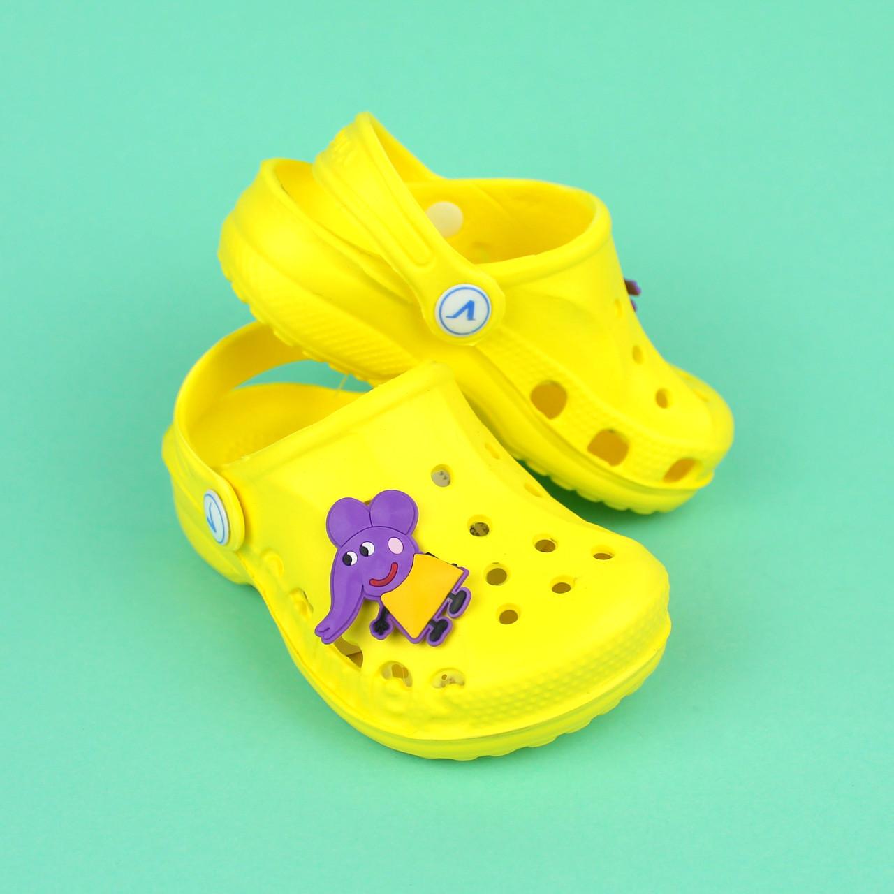 Купить Детские желтые кроксы для детей Crocs тм Vitaliya р.32-33 в Киеве. Интернет-магазин Style-Baby