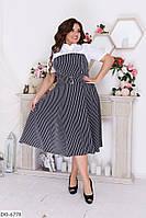 Комбинированное красивое платье имитация рубашки размеры 48-58 арт 34