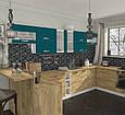Кухня ШАРЛОТТА 2,3 м дуб (крафт белый/графит) СОКМЕ, фото 5