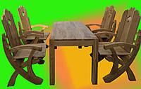 Стол с креслами под старину