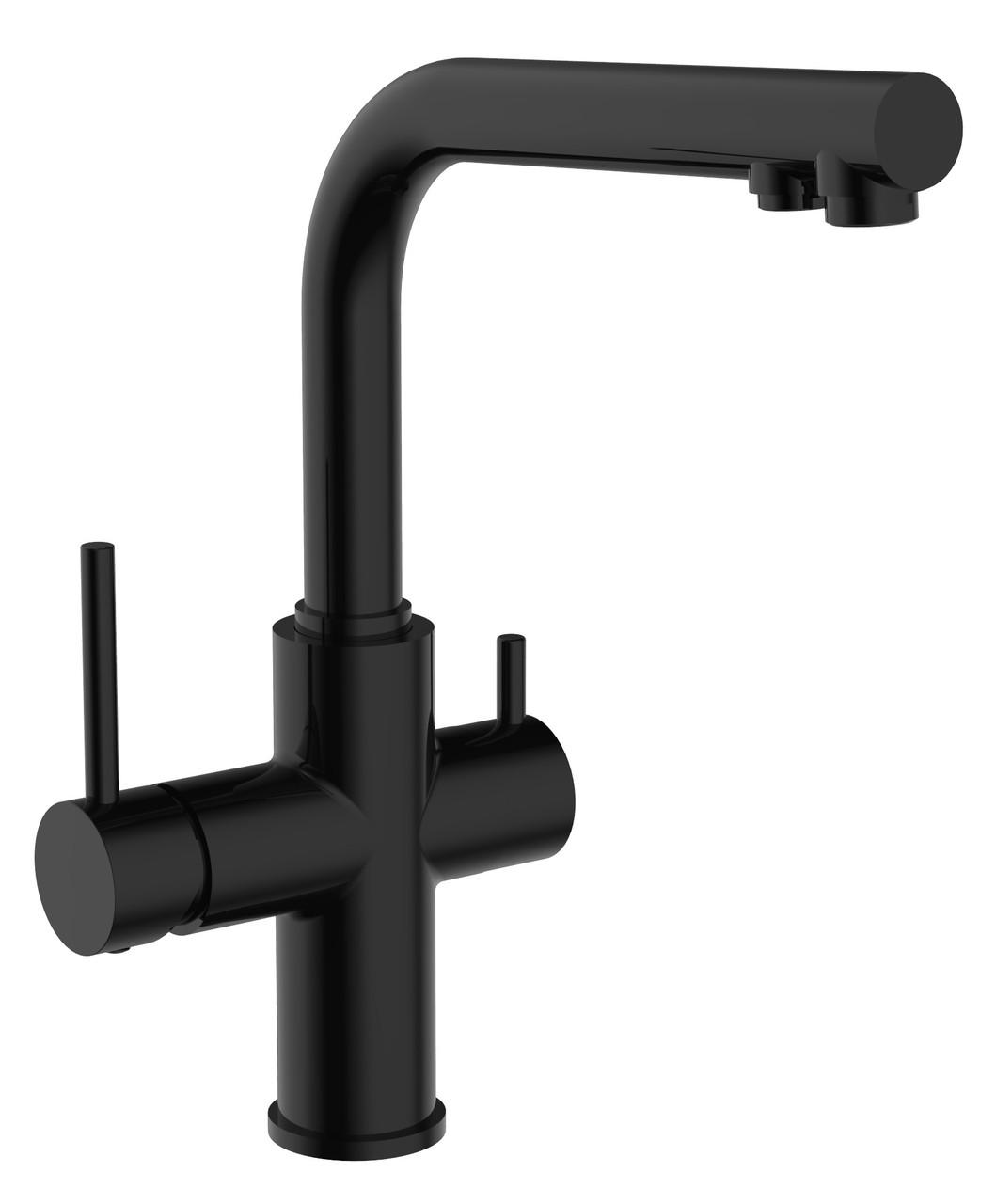 Змішувач для кухні Imprese Daicy 55009B-F, чорний (з підключенням питної води)