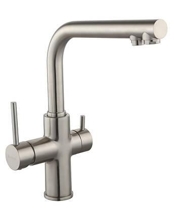 Змішувач для кухні Imprese Daicy 55009S-F, сатин (з підключенням питної води), фото 2