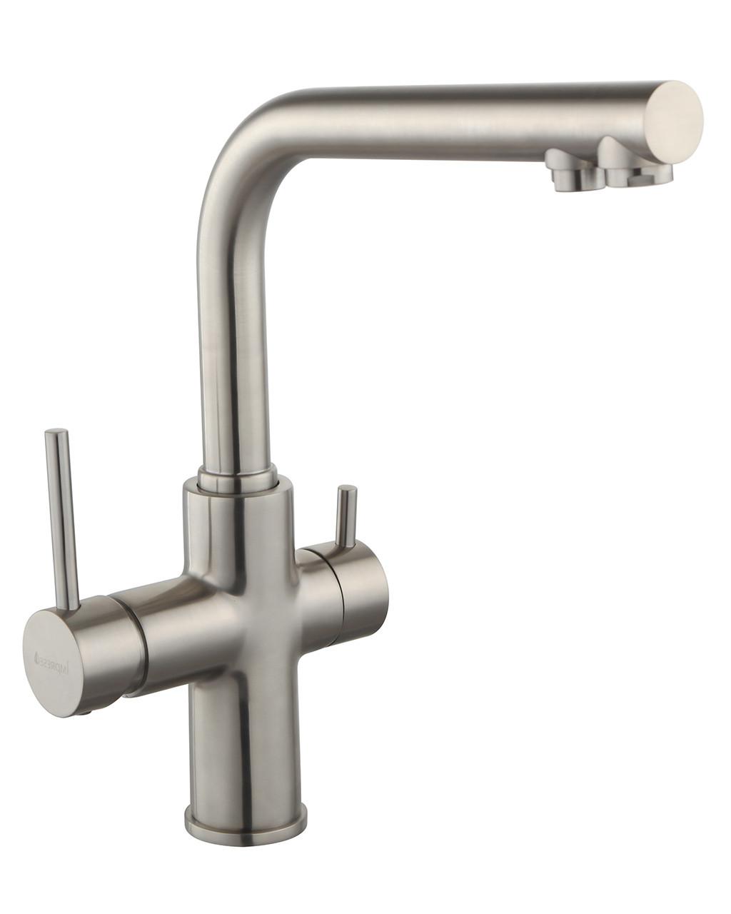 Змішувач для кухні Imprese Daicy 55009S-F, сатин (з підключенням питної води)