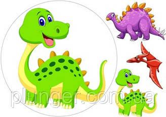 Вафельна картинка для кондитерських виробів Динозаври (аркуш А4) 3