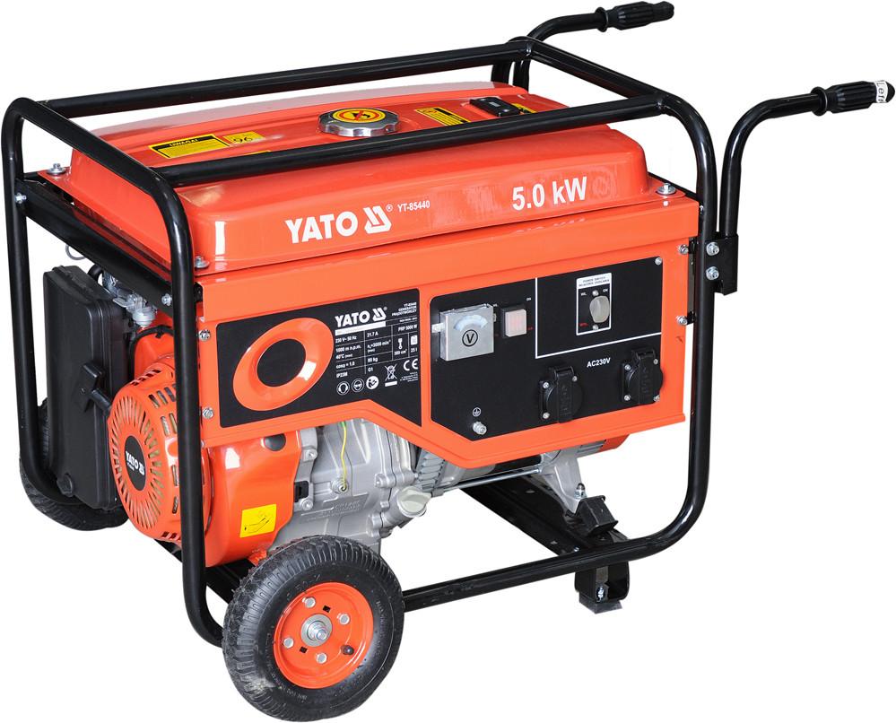 Генератор бензиновий YATO, 5.0 кВт, бак 25л.