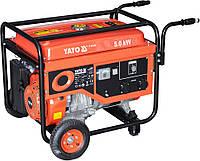 Генератор бензиновий YATO, 5.0 кВт, бак 25л., фото 1