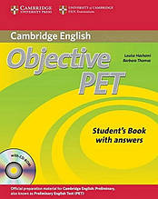 Учебник Objective PET Second Edition Student's Book with answers and CD-ROM and Audio CDs