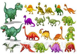 Вафельна картинка для кондитерських виробів Динозаври (аркуш А4) 7