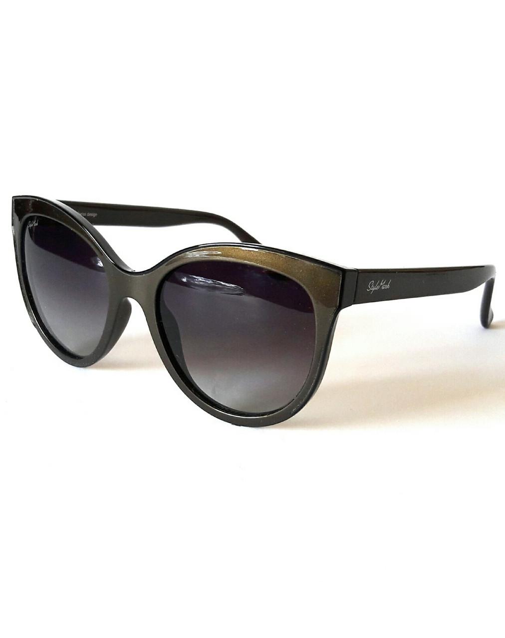Солнцезащитные очки женские с поляризацией, градиентными серыми стёклами, StyleMark
