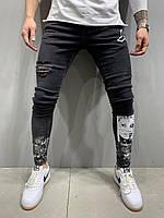 Мужские джинсы темно-серые 2Y Premium 5162, фото 1