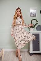 Платье женское длинное в горох 42-44,46-48,50-52
